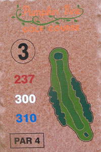 3rd Hole Sign