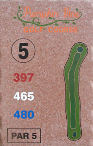5th Hole Sign